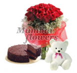 I Love You combo (IMG Source: http://mumbai-flowers.com)