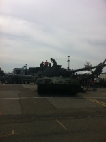 Canadian Forces had a display of tankers, planes and other military equipment.