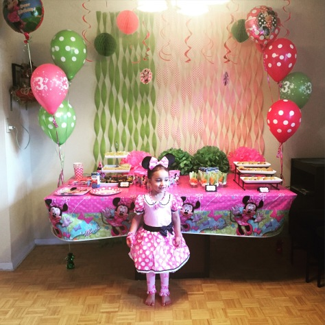 My little Minnie Mouse at her 3rd Birthday Party