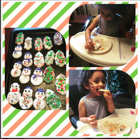 Nid and I made and decorated Snowmen and Christmas tree sugar cookies over the weekend.